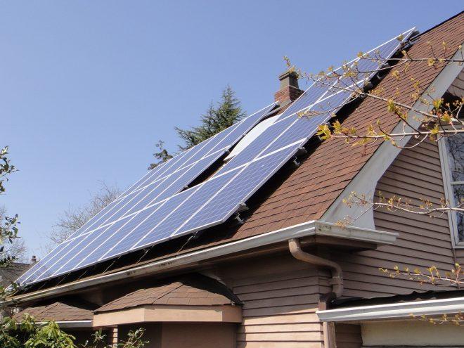 Hosek Installation of solar panels on roof