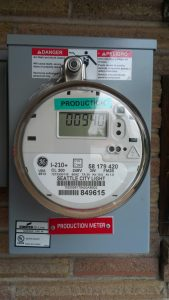 Pamela Ng's solar production meter after two months