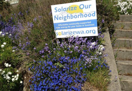 Solarize Our Neighborhood yardsign
