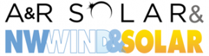combined logo for A&R Solar NW, Wind & Solar