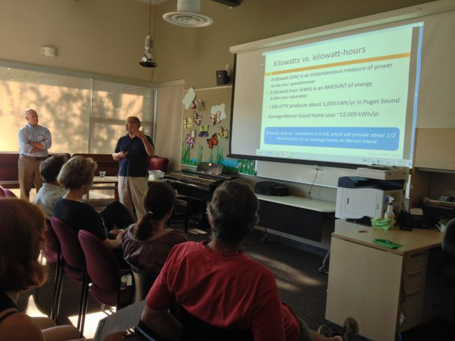 presentation at Solarize Mercer Island workshop