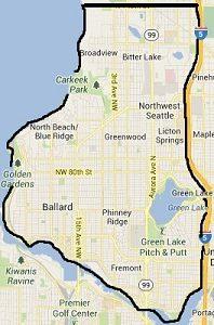 map of Solarize Northwest