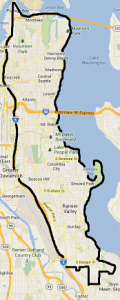 map of Solarize Seattle: Central/Southeast