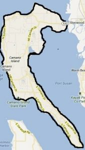 map for Solarize Stanwood/Camano: Camano Island